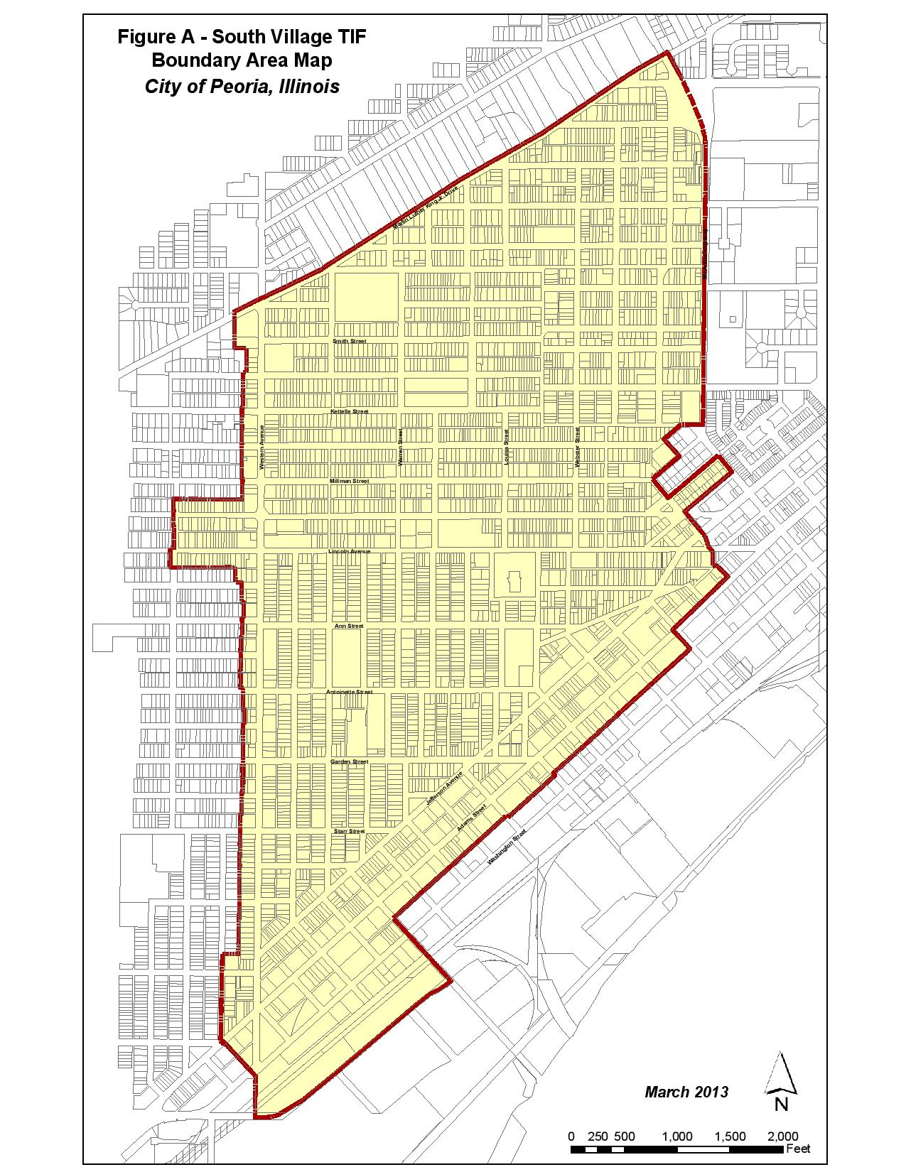 South Village TIF Map Boundary